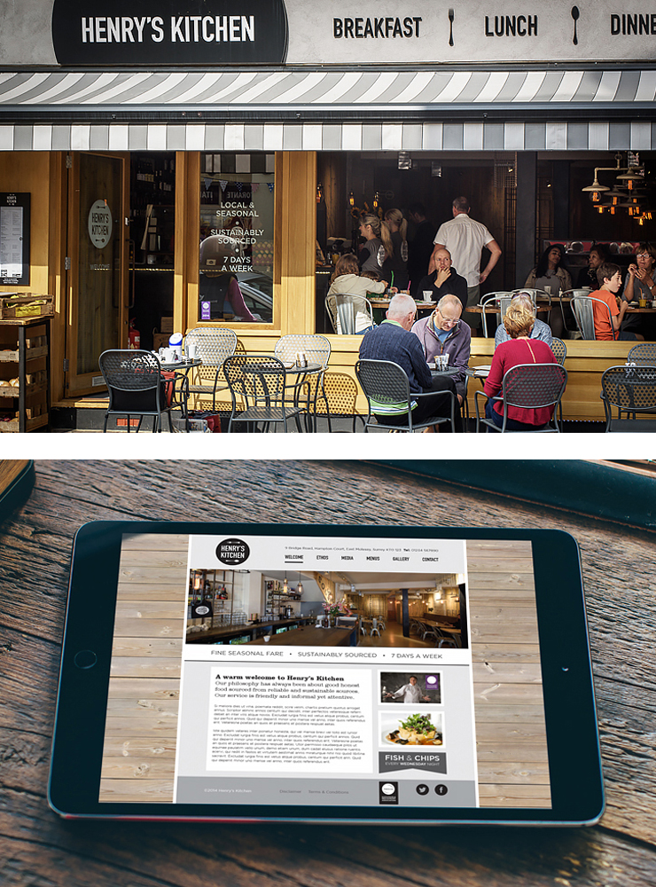 Henrys outside and website view