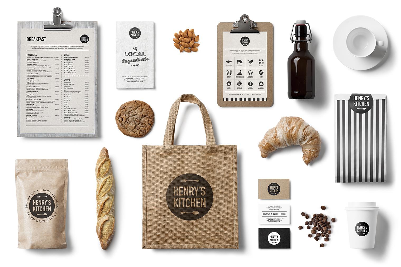 Henrys Kitchen Selection of branded items