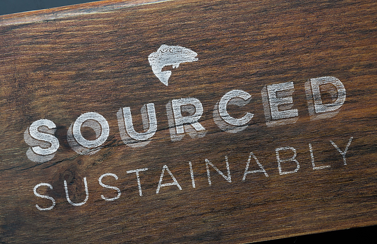 Branding on wood surface