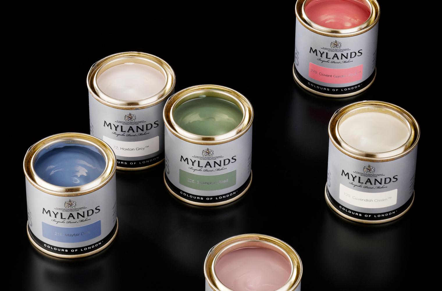 Mylands sample tins