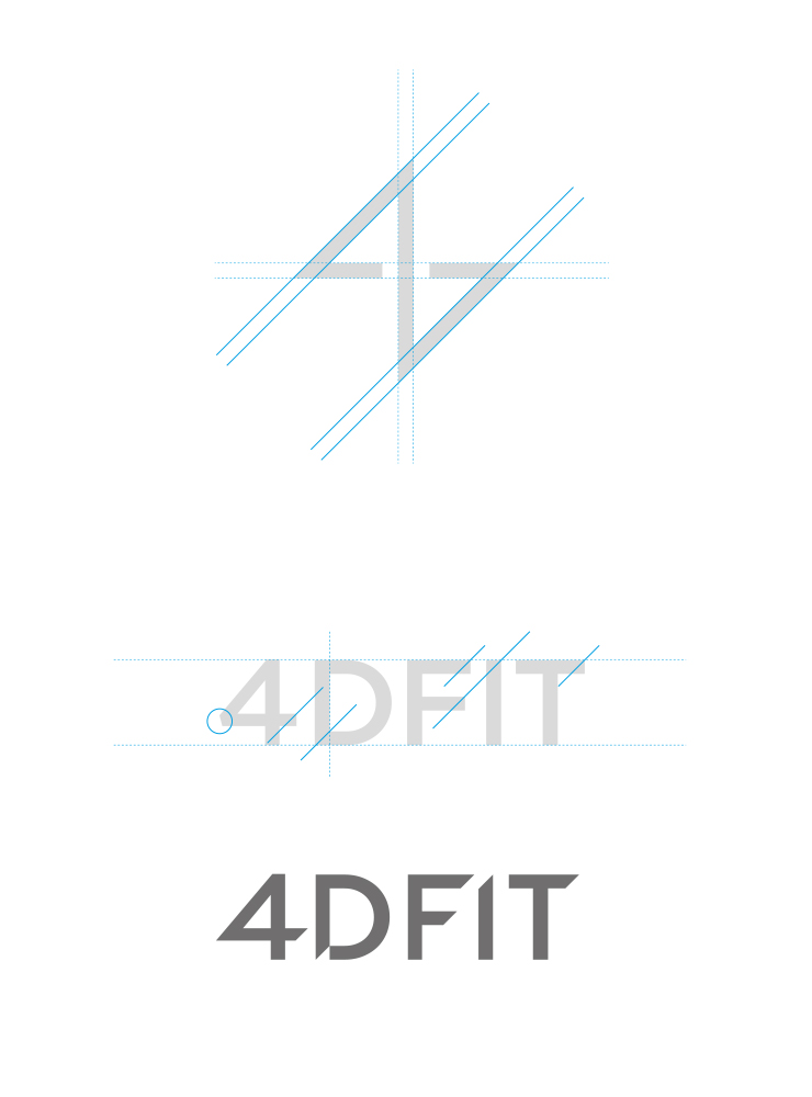 Layout of 4D Fit new logo
