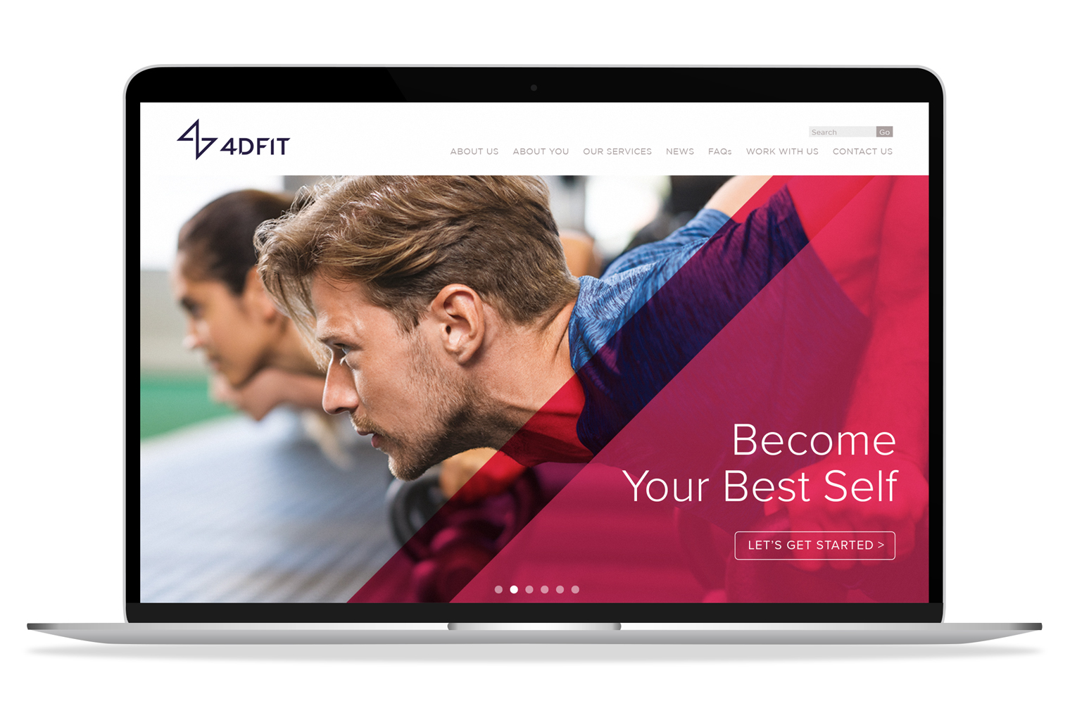 4D fit website layout